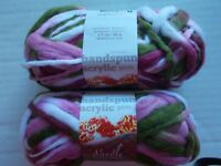 Salt /& Pepper Needle Crafters Shaggy fashion yarn lot of 2