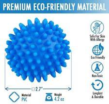 2x Blue Laundry Washing Tumble Dryer Balls Washing Helper Clothes Softener Tools