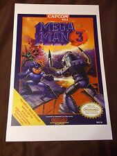 Mega Man 3 11x17 Box Art Poster - III Nintendo NES No Game -