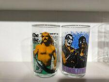 1988 Wwf Wrestling Glasses Jake the Snake & Demolition