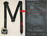 VW Golf Mk5 Seatbelt Drivers Side Front Safety Belt  1K4857706T