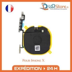 Nappe NFC charge sans fil + nappe Volume prémonter pour Iphone X