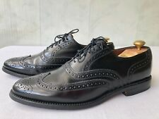 Allen Edmonds' Lloyd' Black Leather Wingtip Dress Oxford Shoes Men's Size 9.5 B
