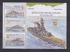 WWII BATTLE OF RIVER PLATE GRAFF SPEE SHIP WARSHIP BOAT URUGUAY Sc#2284 MNH