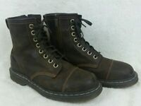 Dr Marten Boots Brown With Zipper Mens Size 10