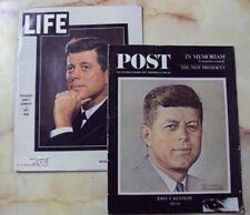 SATURDAY EVENING POST & LIFE MEMORIAM ISSUES JFK 1963