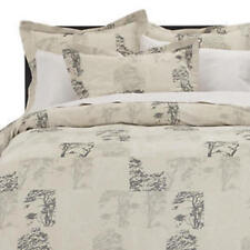 Crate & and Barrel ACACIA- KING DUVET COVER & 2 King Shams-NEW in Pkg.
