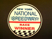 New York National Speedway Race Winner Hot Rod, NASCAR & Drag Racing Decal