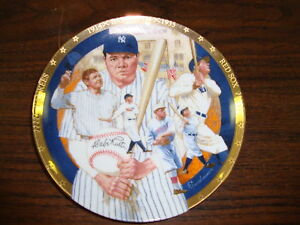 Babe Ruth Plate---The Best Of Baseball---Hamilton Collection---1992---COA