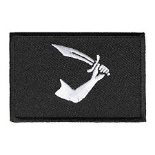 Embroidered Pirate Arm Sword Flag Sew or Iron on Patch Biker Patch