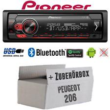 Pioneer Radio für Peugeot 206 Bluetooth Spotify MP3 USB Android Einbauset PKW