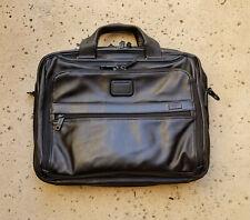 Tumi 'Alpha 2' Organizer Leather Laptop Brief Black 96132D2 MSRP $635