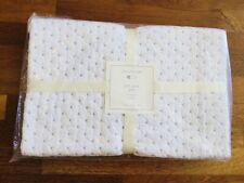 Pottery Barn Baby Toddler Quilt Pick Stitch Quilt Blanket White/Blue New