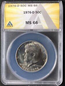 1976-D 50C Kennedy Half Dollar ANACS MS66         6268393