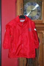 Veste Blouson Coupe-vent rouge doublé gris T104cm ou 4A Très Bon Etat!