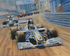 Jenson Button F1 Brawn Monaco Grand Prix Motor Sport Racing Car Art Print