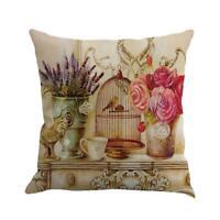 Vintage Cotton Linen Waist Throw Pillow Case Sofa Home Decor Gift Cushion Cover
