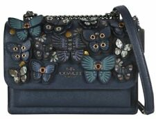 Coach Klare Applique Chain Butterfly Crossbody Bag - Blue