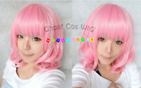 Hot Sell! New Short Light Pink Cosplay Party Wig+Free wig cap NO:280