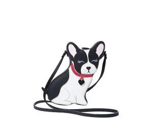 Betsey Johnson Kitsch Fur-Gedaboutit Black & White Crossbody BJ97715N SEALED