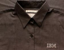 Womens IBM International Business Machines Long Sleeve Embroidered Oxford Shirt