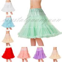 New Swing Vintage Soft Underskirt Slips Ladies Tutu Layers Petticoat Rockabilly