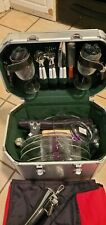 "VTG ""PICNIC TIME-PLATINUM"" ALUMINUM PICNIC TOTE~LOADED EXTRAS~COST$420+MUST SEE"