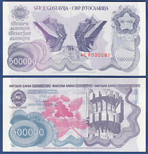 JUGOSLAWIEN / YUGOSLAVIA 500.000 Dinara 1989 UNC  P.98