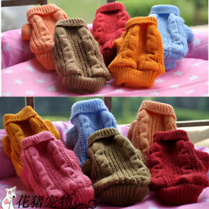 Knit Dog Sweater Winter Clothes for Tinny Puppy Maltese Yorkshire Terrier Teacup
