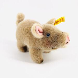 Vintage Steiff Piggy Pig Stuffed Toy Standing Ear Button 1505 Austria Acrylic