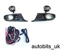 NEW BOXED VW GOLF MK6 6 09 10 11 FOG LIGHTS LIGHT LAMPS & GRILLES + WIRING KIT