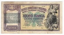 Albania provisional 1945 overprint 100 Franga