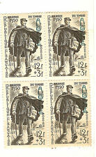 YVERT ALGERIE N° 282 BLOC DE 4 NEUF JOURNEE DU TIMBRE 1950 SANS CHARNIERES