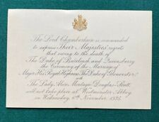 Antique Royal Wedding Cancelled Prince Henry Duke Gloucester to Lady Alice 1935