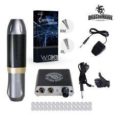 Dragonhawk Beginner Tattoo Machine Set Kit Motor Rotary Pen Power Supply Needles