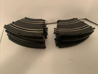 Artin Slot Car Two Lane Curve  Track With Hook Lot Of 16 Replacement Pieces