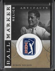 2021 Upper Deck Artifacts Byron Nelson SP Ball Marker Relic Card PGA Golf