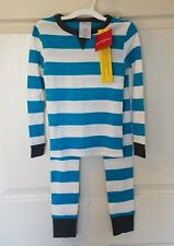 Kids Rugby Stripe Pajama Set - Wondershop - Blue & White - Size 5 Boys Girls