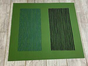 "Gene Davis Green Giant 1980 AP Lithograph 26x 28.75"" Signed Artist Proof 76/250"