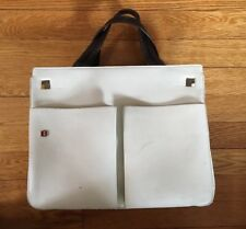 BALLY WHITE LEATHER TOTE HAND BAG PURSE