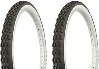 2 Duro White Wall Tires 26x2.125 (2 Tires, 2 Tubes, 2 Rim Strips)