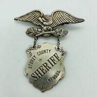 Storey County Nevada Sheriff Eagle Shield Badge Pin Police Lawman Replica