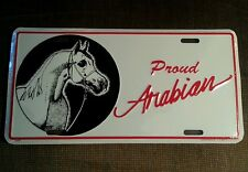 New Proud Arabian Aluminum License Plate-Horse in Show Halter for Truck/Trailer
