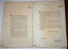 2 Regolamenti  1796 - EPIDEMIE BOVINE