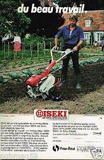 Publicité advertising 1983 Le Motoculteur Iseki