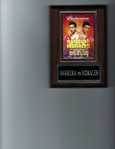 ERIK MORALES vs MARCO ANTONIO BARRERA PLAQUE BOXING PHOTO PLAQUE CHAMPION