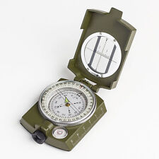Professional Military Army Metal Sighting Compass  Camping Hiking New