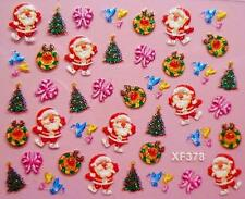 Santa Christmas 2017 Wreath Birds Nail Art Sticker Decal Decoration Manicure