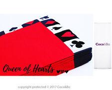 Coco&Bo 10 x Queen of Hearts Napkins Alice in Wonderland Tea Party Decorations