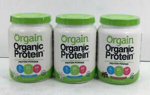 Orgain, Organic Protein Powder, You Pick Bulk Stock, Vanilla + Chocolate, 1lb Ea